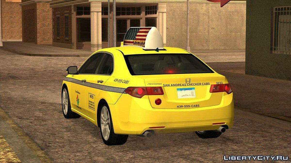 Машина Honda 2010 Honda Accord Taxi для GTA San Andreas