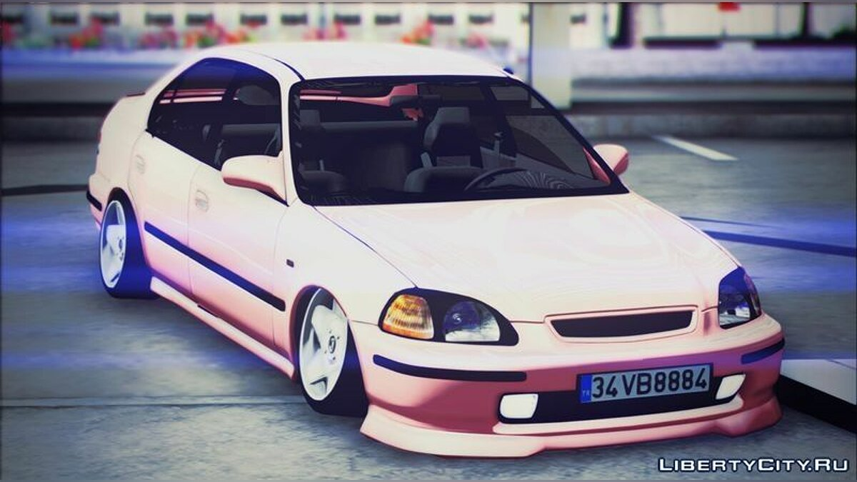 34 VB 8884 Honda Civic для GTA San Andreas - скриншот #2