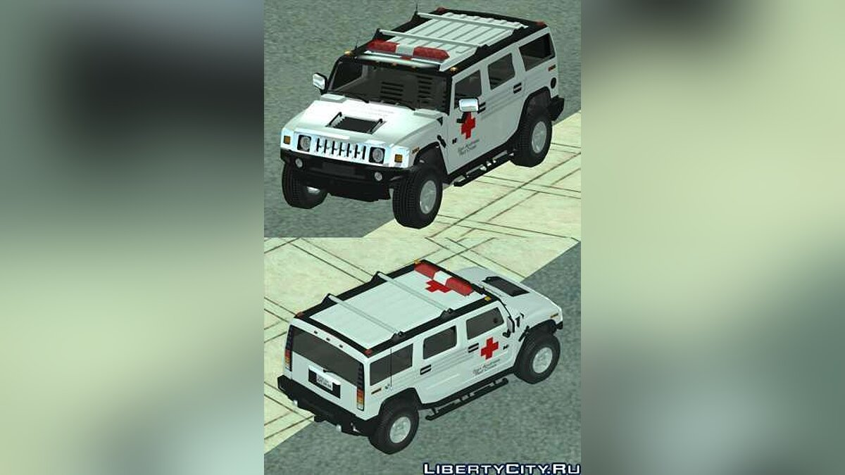 Машина Hummer AMG H2 HUMMER - RED CROSS (ambulance) для GTA San Andreas