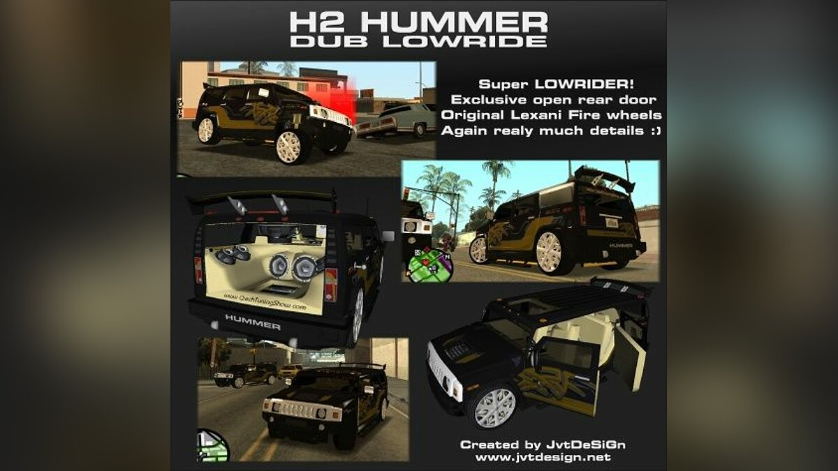 H2 Hummer DUB Lowrider для GTA San Andreas - Картинка #1