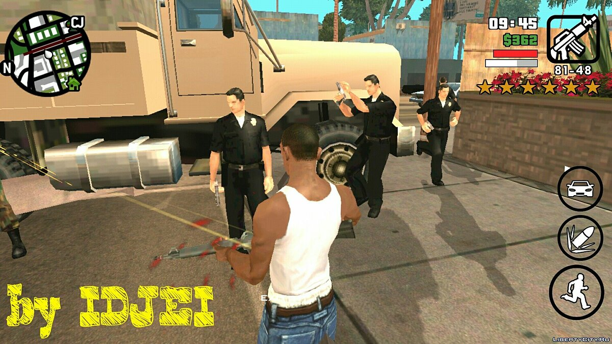 Пульсатор Xp и Armor для GTA San Andreas (iOS, Android)