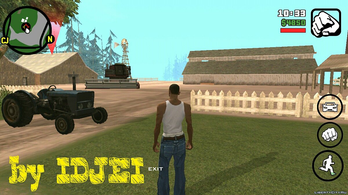 Работать в поле 1.0 (Android) для GTA San Andreas (iOS, Android)