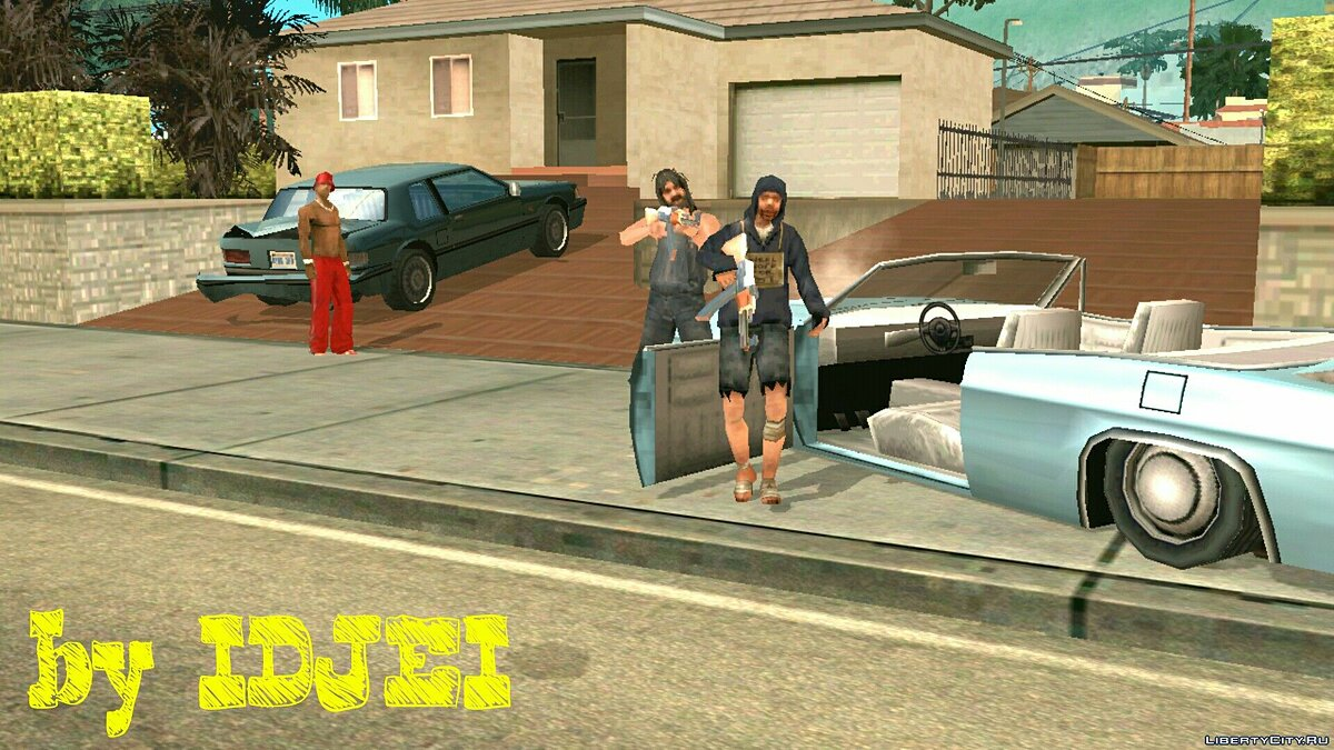 Охота бомжей за CJ для GTA San Andreas (iOS, Android) - скриншот #3