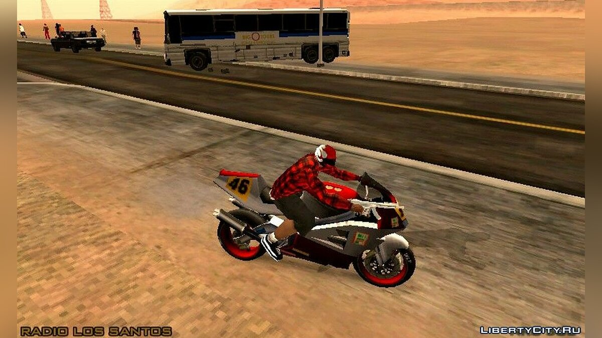 CLEO скрипт Шлем для езды на мотоцикле для GTA San Andreas (iOS, Android)