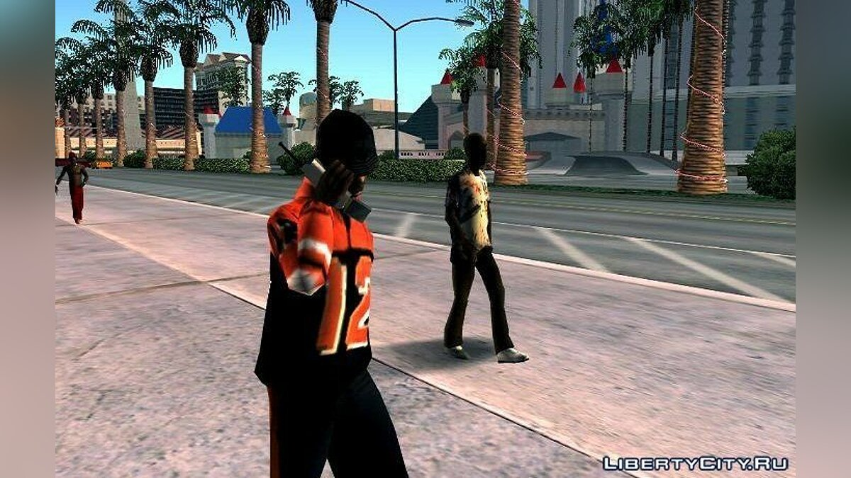 Peds walk with Phone для GTA San Andreas (iOS, Android)