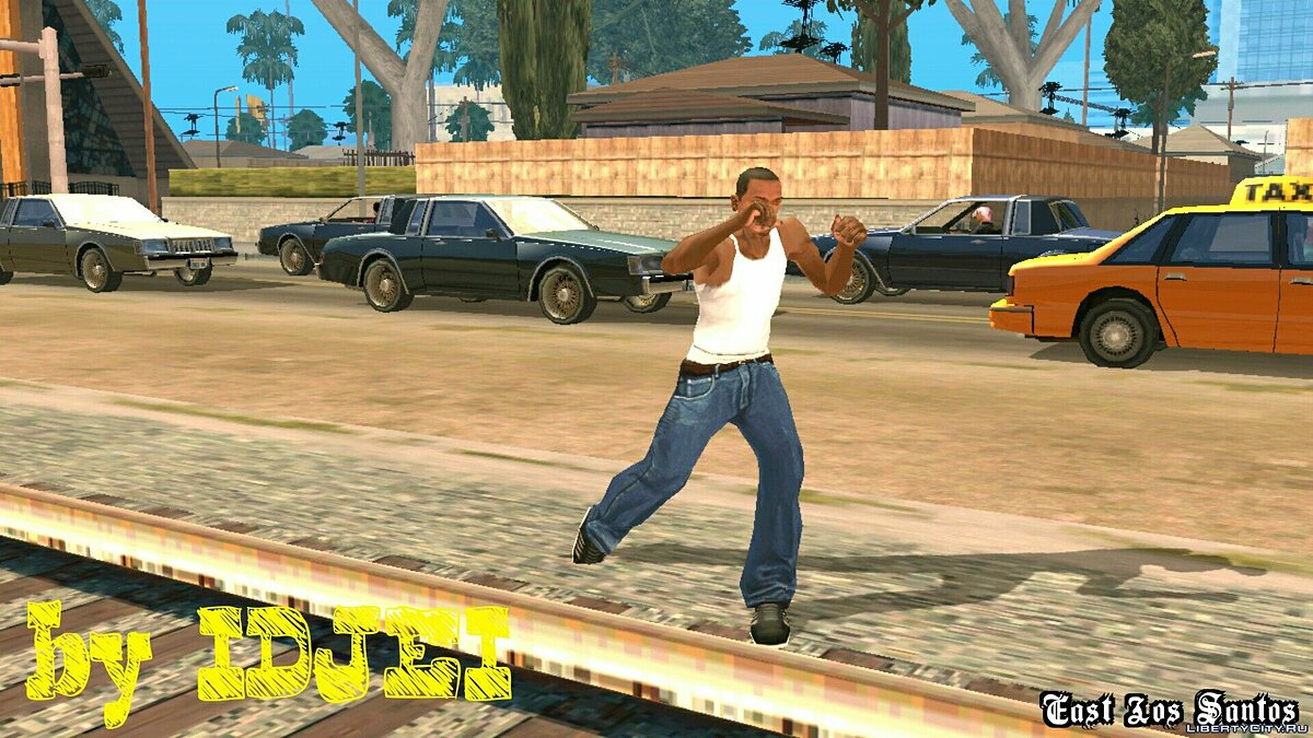 Смешанный бой CJ для GTA San Andreas (iOS, Android) - скриншот #3