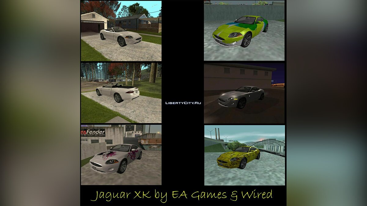 Jaguar XK Stock + Convertible 2005 для GTA San Andreas