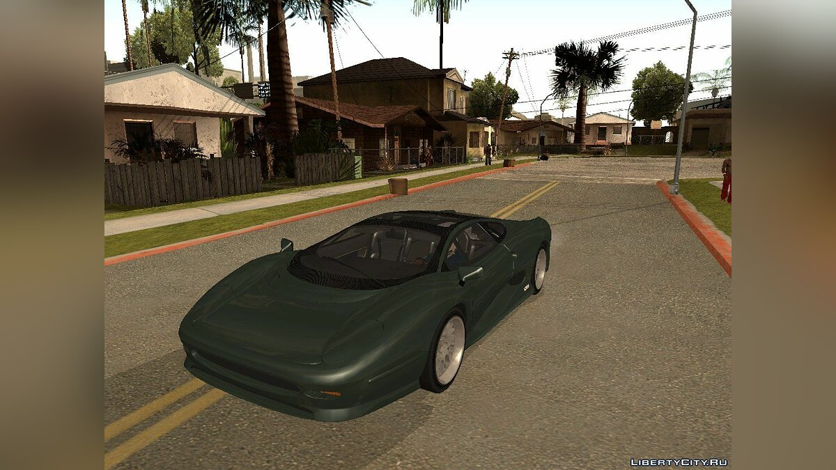 Jaguar XJ220S Black Revel для GTA San Andreas