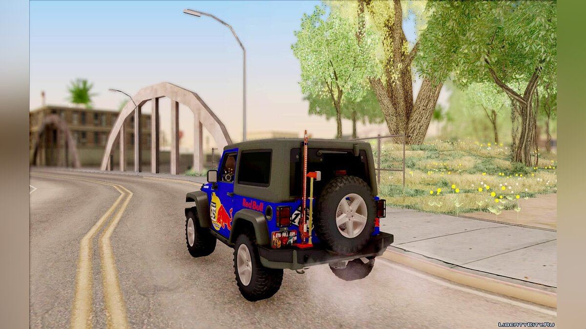 Jeep Wrangler Red Bull 2012 для GTA San Andreas - скриншот #6