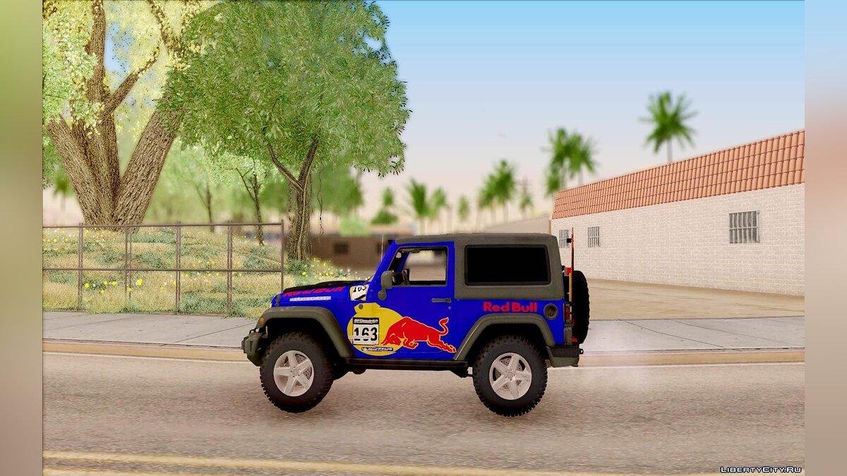 Jeep Wrangler Red Bull 2012 для GTA San Andreas - скриншот #7