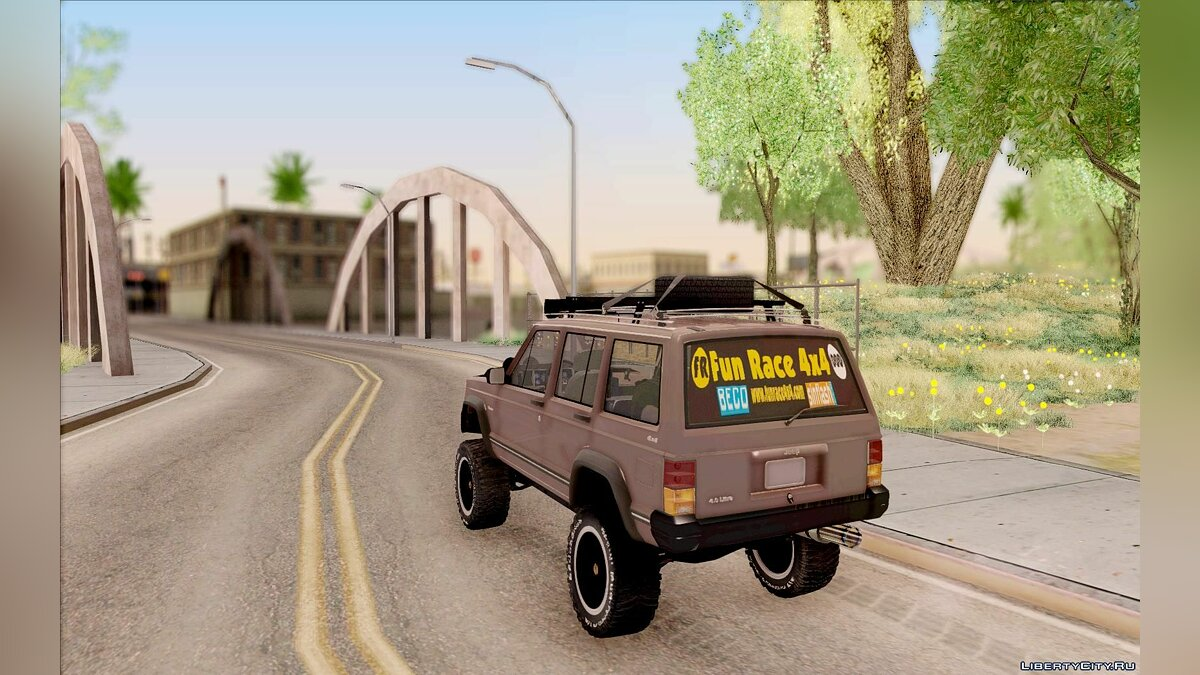 Jeep Cherokee 1998 Off Road 4x4 для GTA San Andreas - скриншот #7