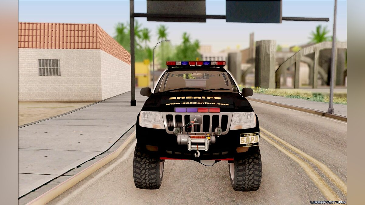 Jeep Grand Cherokee 1999 Sheriff для GTA San Andreas - скриншот #2