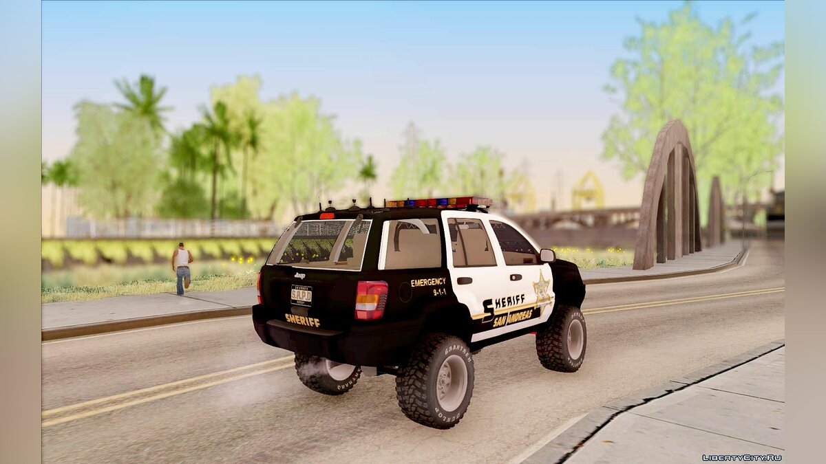 Jeep Grand Cherokee 1999 Sheriff для GTA San Andreas - скриншот #3