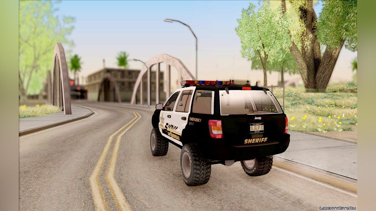 Jeep Grand Cherokee 1999 Sheriff для GTA San Andreas - скриншот #6