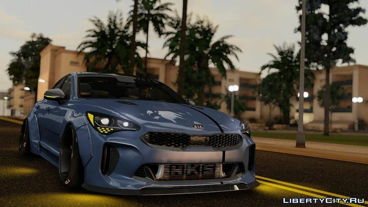 Машина Kia Kia Stinger GT Wide Body Kit 2018 для GTA San Andreas