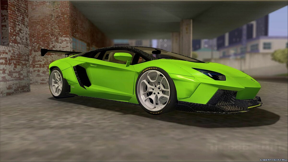 Машина Lamborghini Lamborghini Aventador LP700-4 LB Walk with no fenders для GTA San Andreas