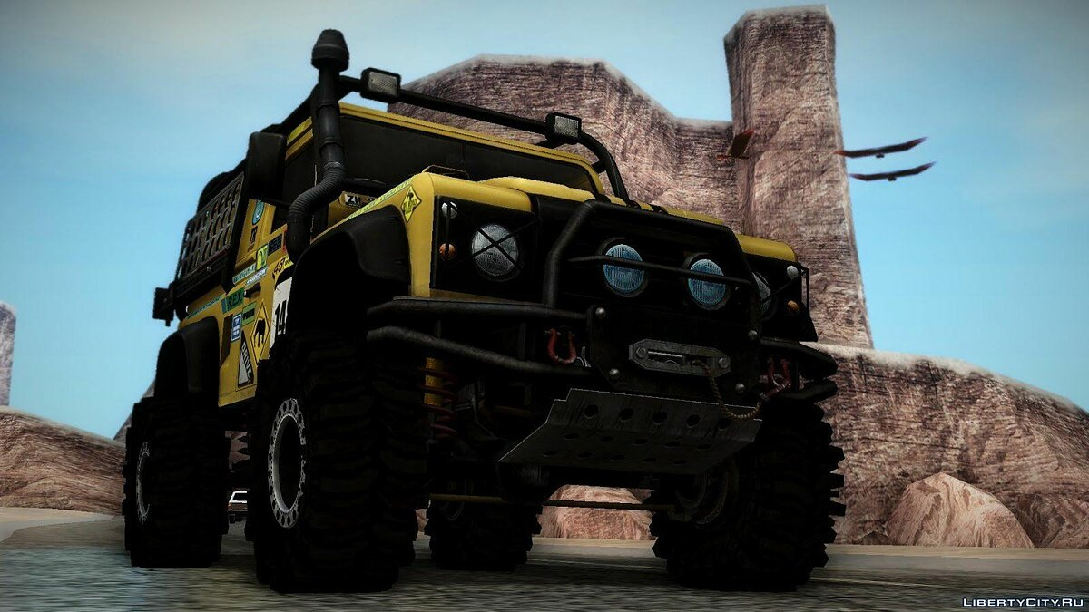 Land Rover Defender Off-Road для GTA San Andreas - скриншот #3