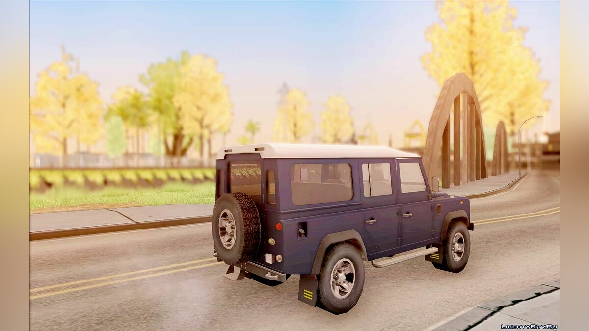 Land Rover Defender 110SW для GTA San Andreas - скриншот #3