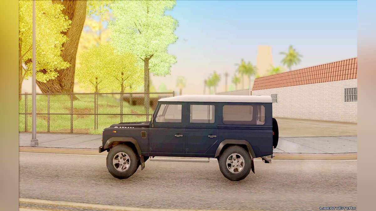Land Rover Defender 110SW для GTA San Andreas - скриншот #5
