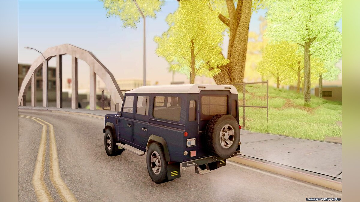 Land Rover Defender 110SW для GTA San Andreas - скриншот #6