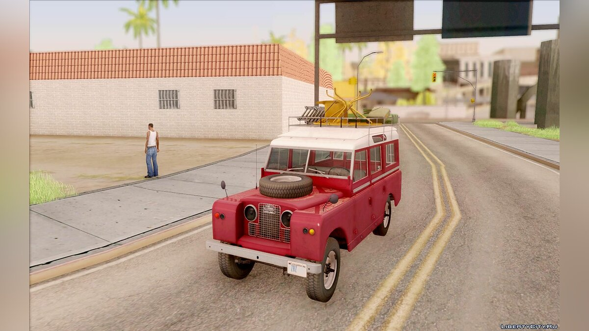 Land Rover Series IIa LWB Wagon 1962-1971 для GTA San Andreas - скриншот #7