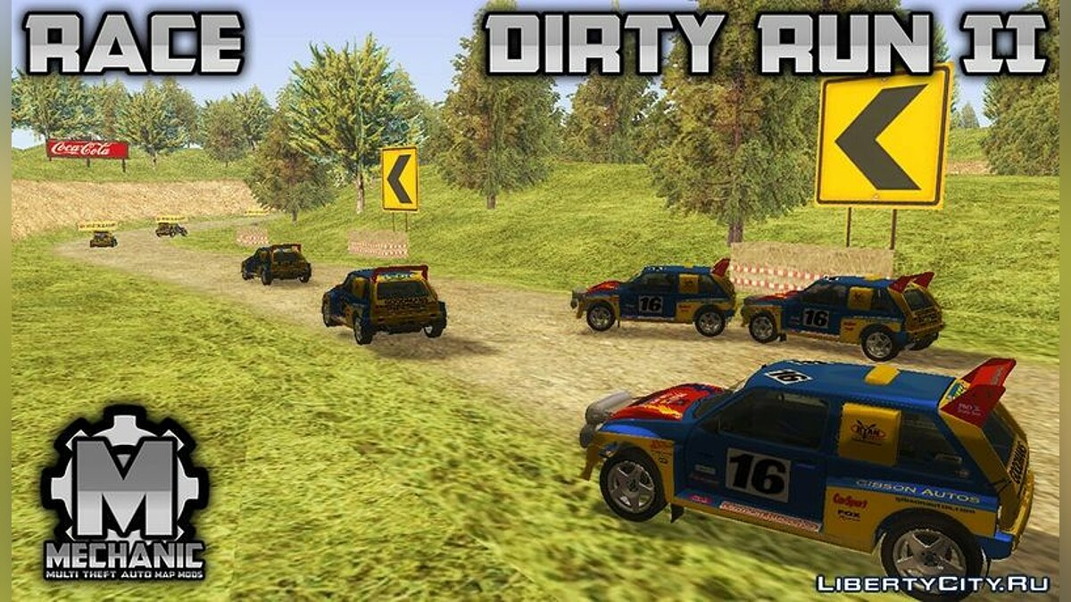 MTA SA Race Track Map - Dirty Run II для GTA San Andreas