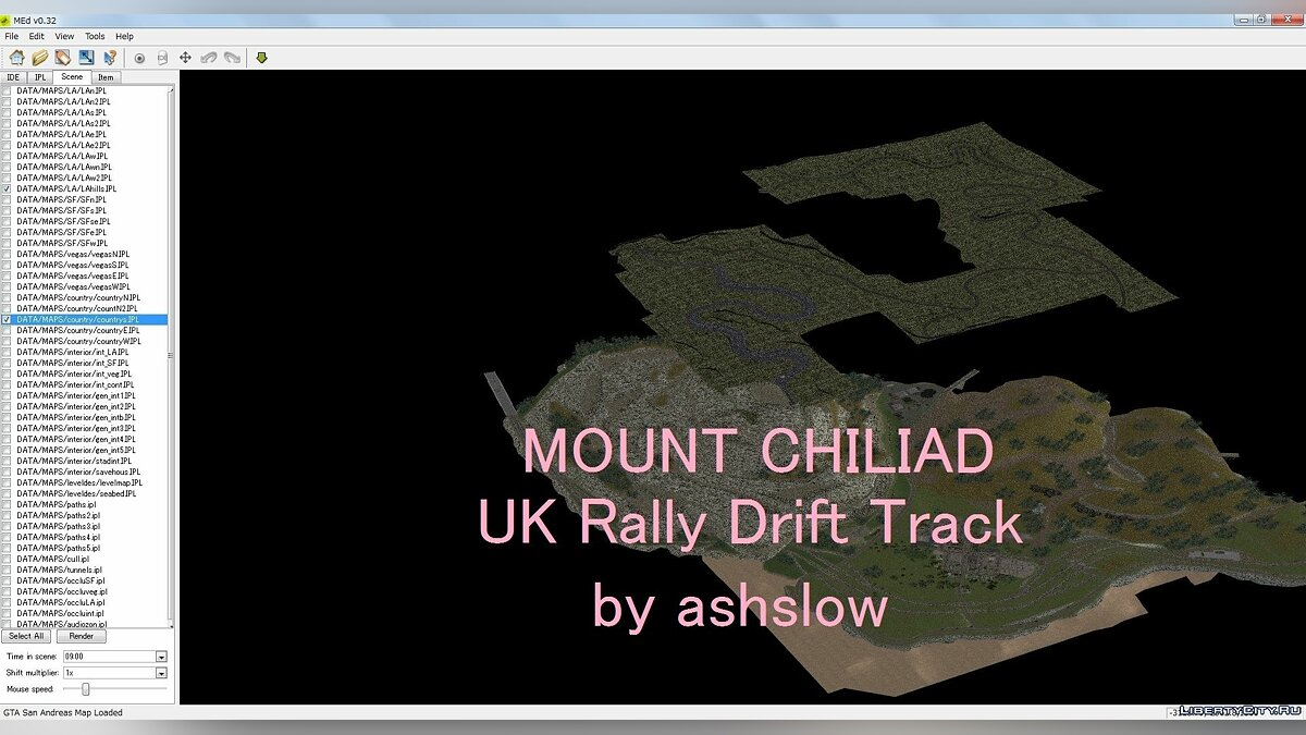 UK Rally Drift Track Map Mod для GTA San Andreas - скриншот #2