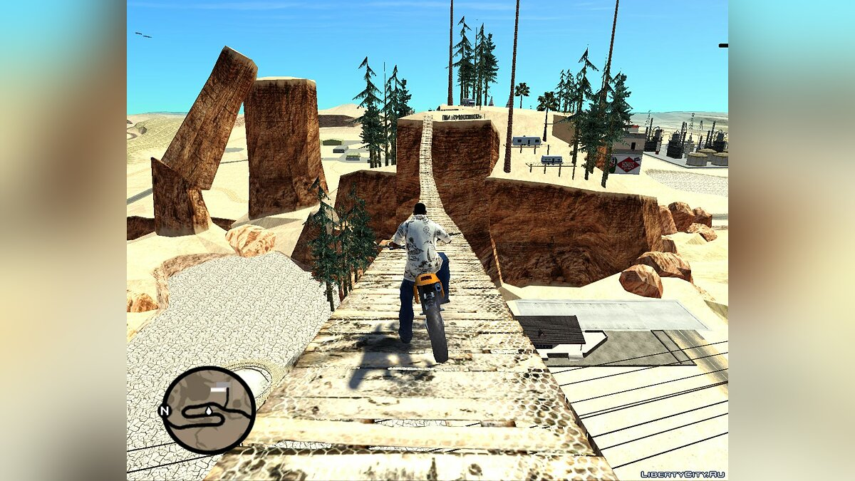 Новый остров Tourist Attractions in the Desert для GTA San Andreas