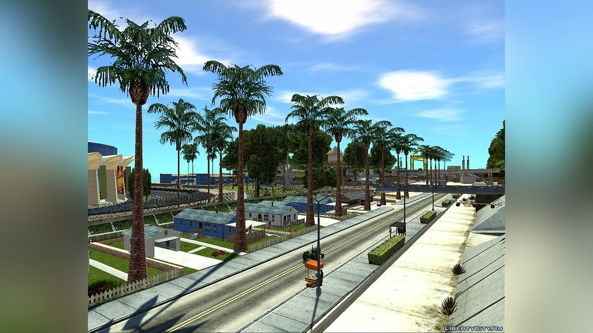 Новый остров Ganton Palm Village для GTA San Andreas