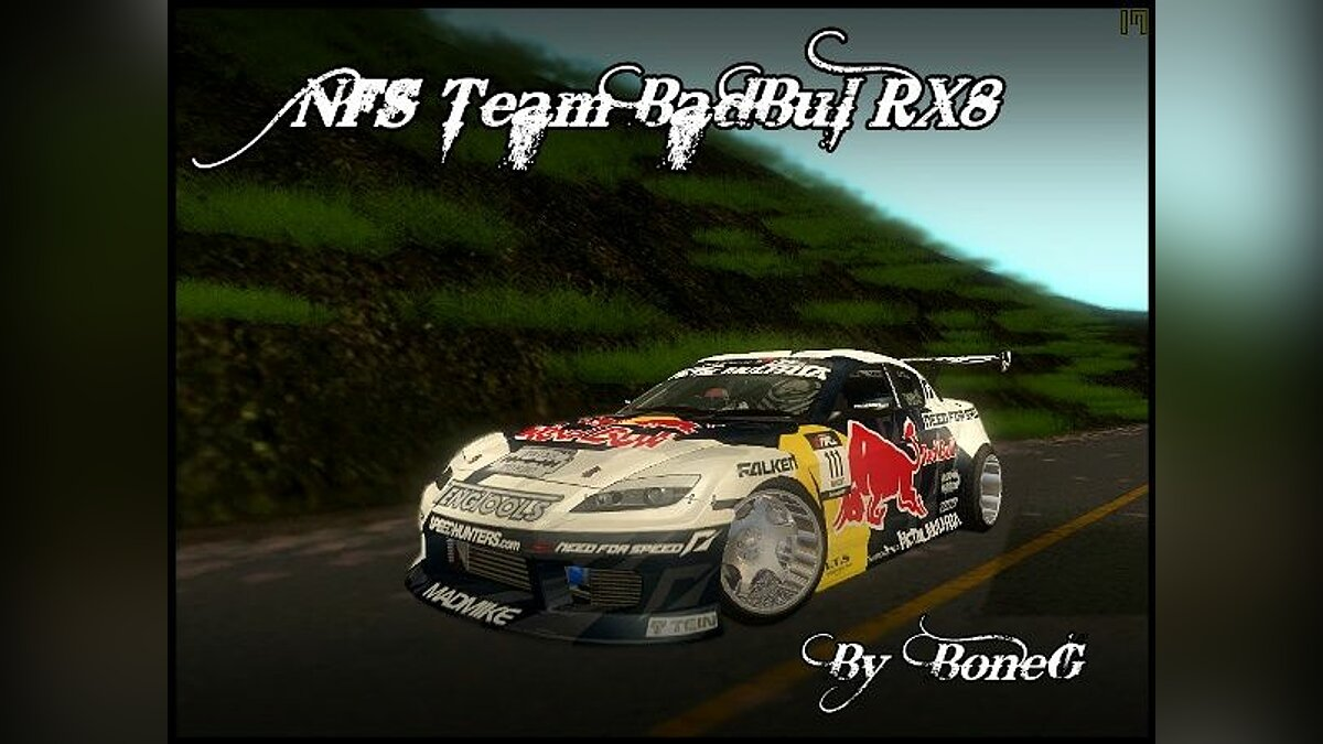 Mazda RX8 NFS Team Mad Mike для GTA San Andreas