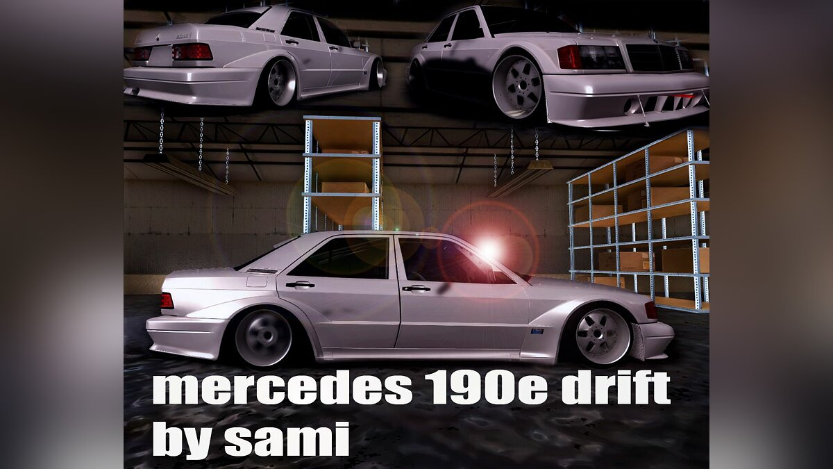 Mercedes Benz 190E Drift для GTA San Andreas