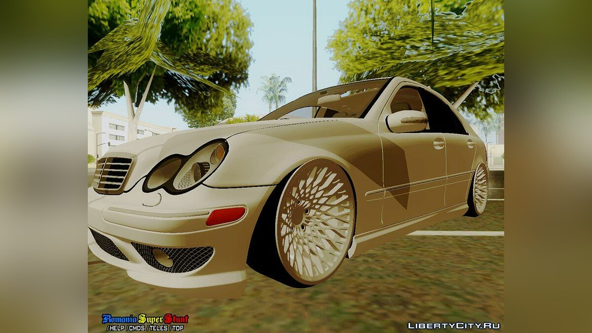 Mercedes-Benz C32 AMG Stanced для GTA San Andreas - скриншот #2