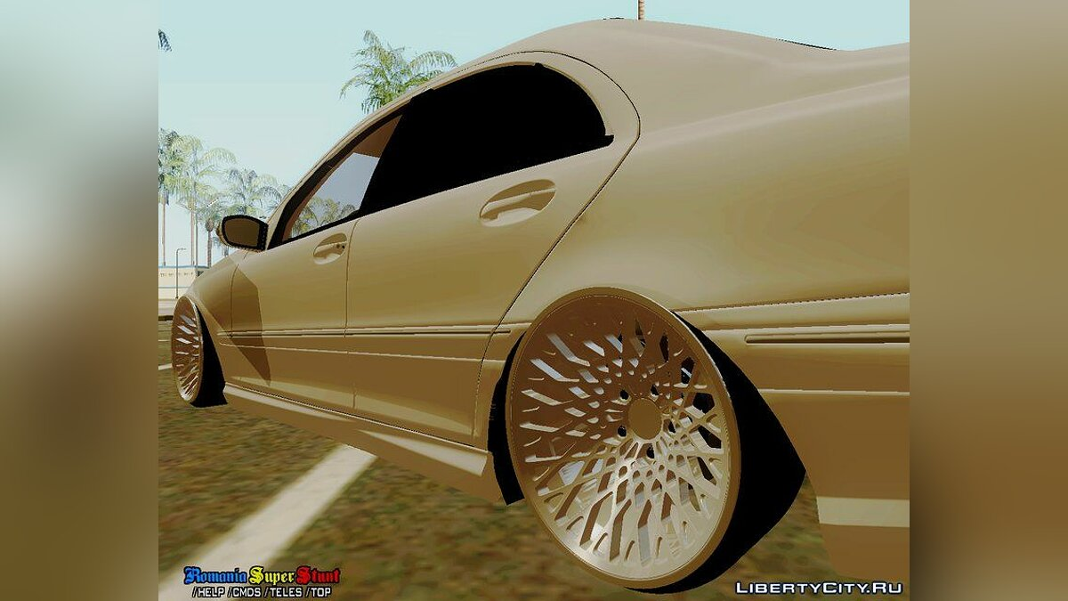 Mercedes-Benz C32 AMG Stanced для GTA San Andreas - скриншот #7