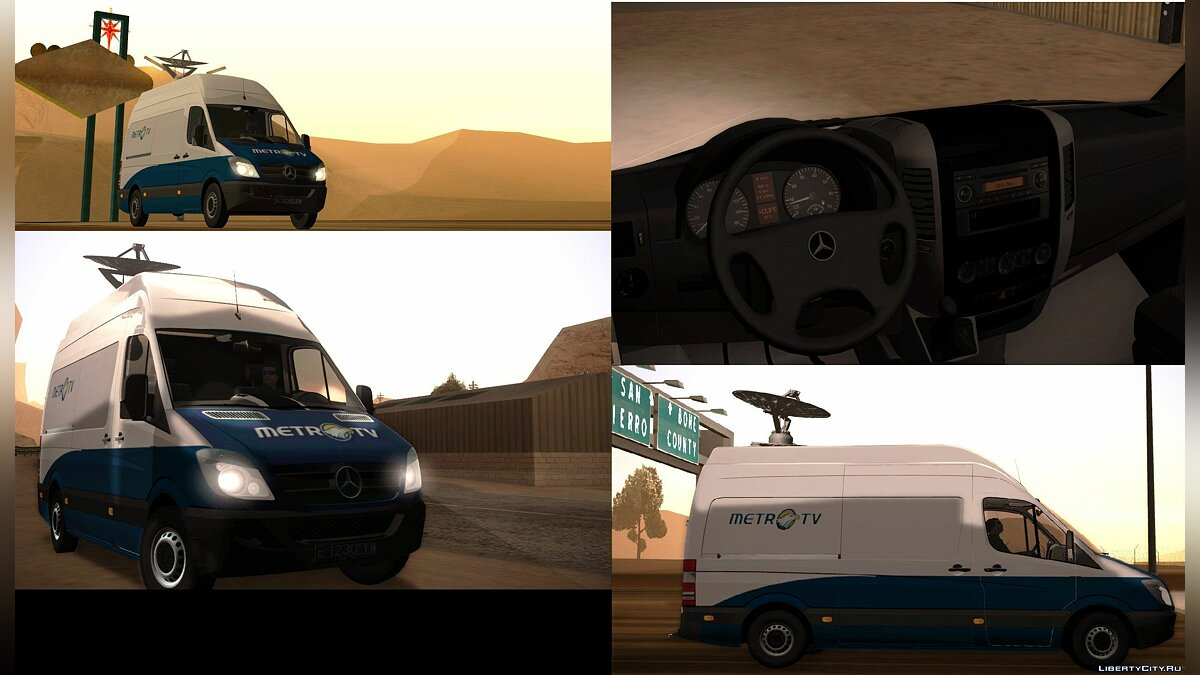 Mercedes Sprinter 311 CDI Newsvan для GTA San Andreas