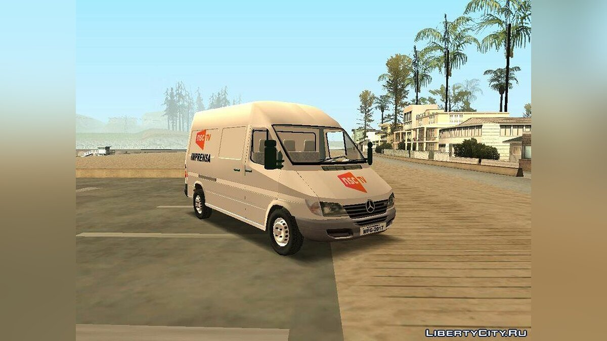 Машина Mercedes-Benz Mercedes-Benz Sprinter NSC TV для GTA San Andreas