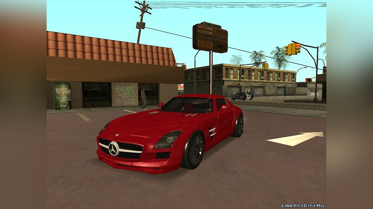 Mercedes-Benz SLS AMG TT Black Revel для GTA San Andreas