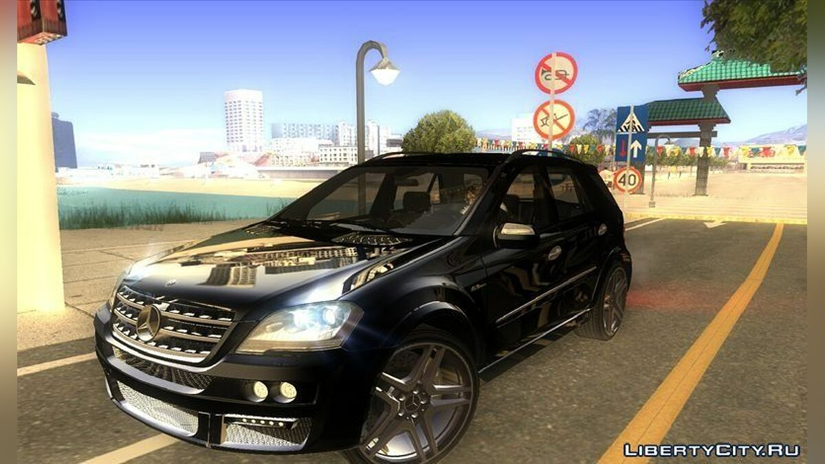 2009 Mercedes-Benz ML63 AMG Brabus by Bandolero для GTA San Andreas - скриншот #2