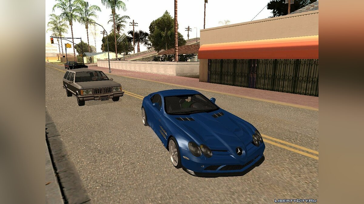 Mercedes SLR McLaren 722 Black Revel для GTA San Andreas