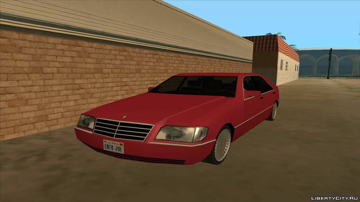 Mercedes-Benz W140 Low Poly для GTA San Andreas