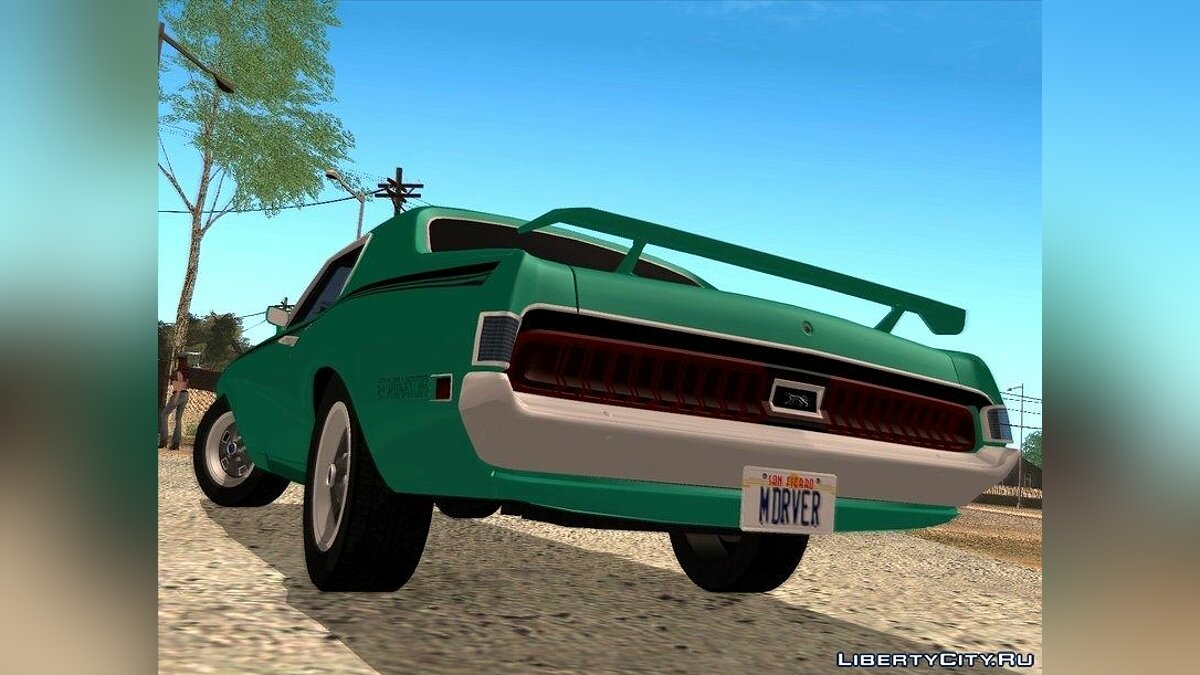 1970 Mercury Cougar Eliminator для GTA San Andreas - скриншот #3