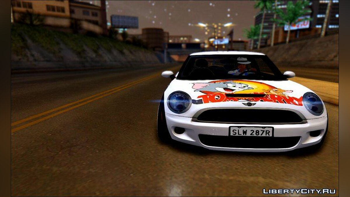 Машина Mini Mini John Cooper Works Tom And Jerry для GTA San Andreas