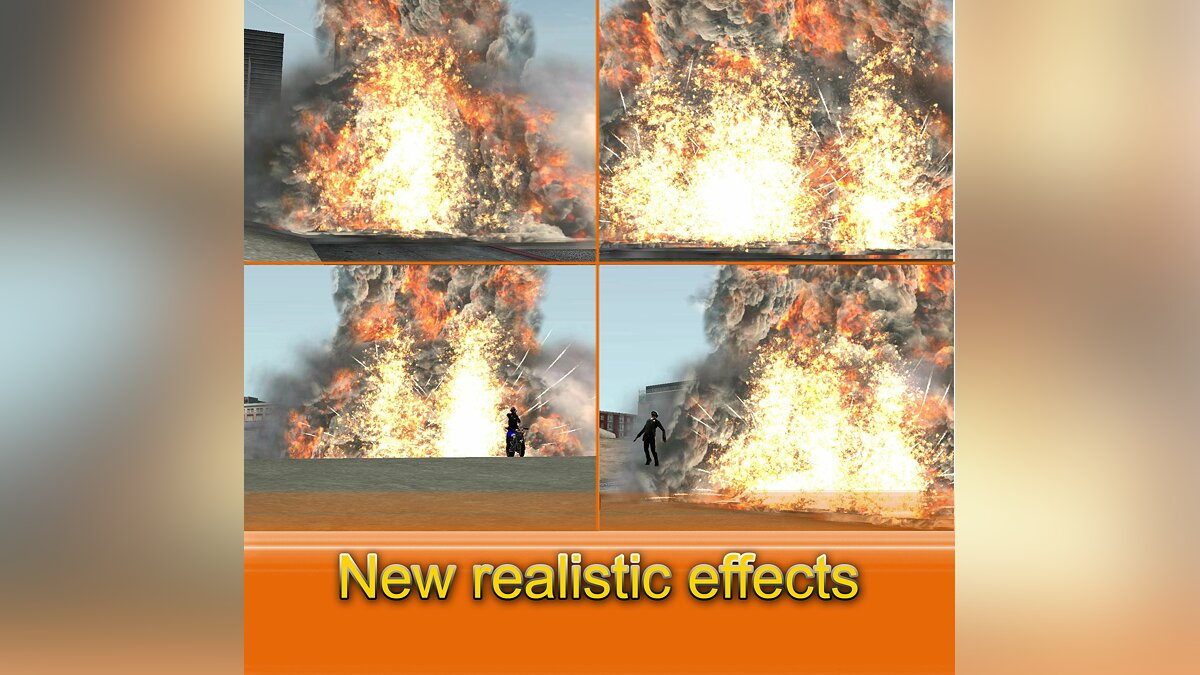 New Realistic effects для GTA San Andreas