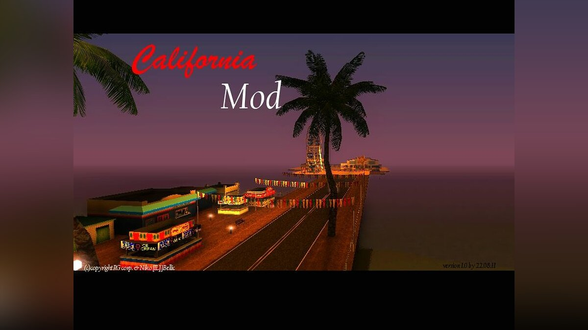 California Mod v.1.0 beta для GTA San Andreas