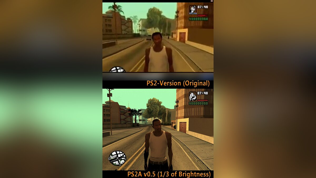 PS2 Adaptation v0.5B1 для GTA San Andreas