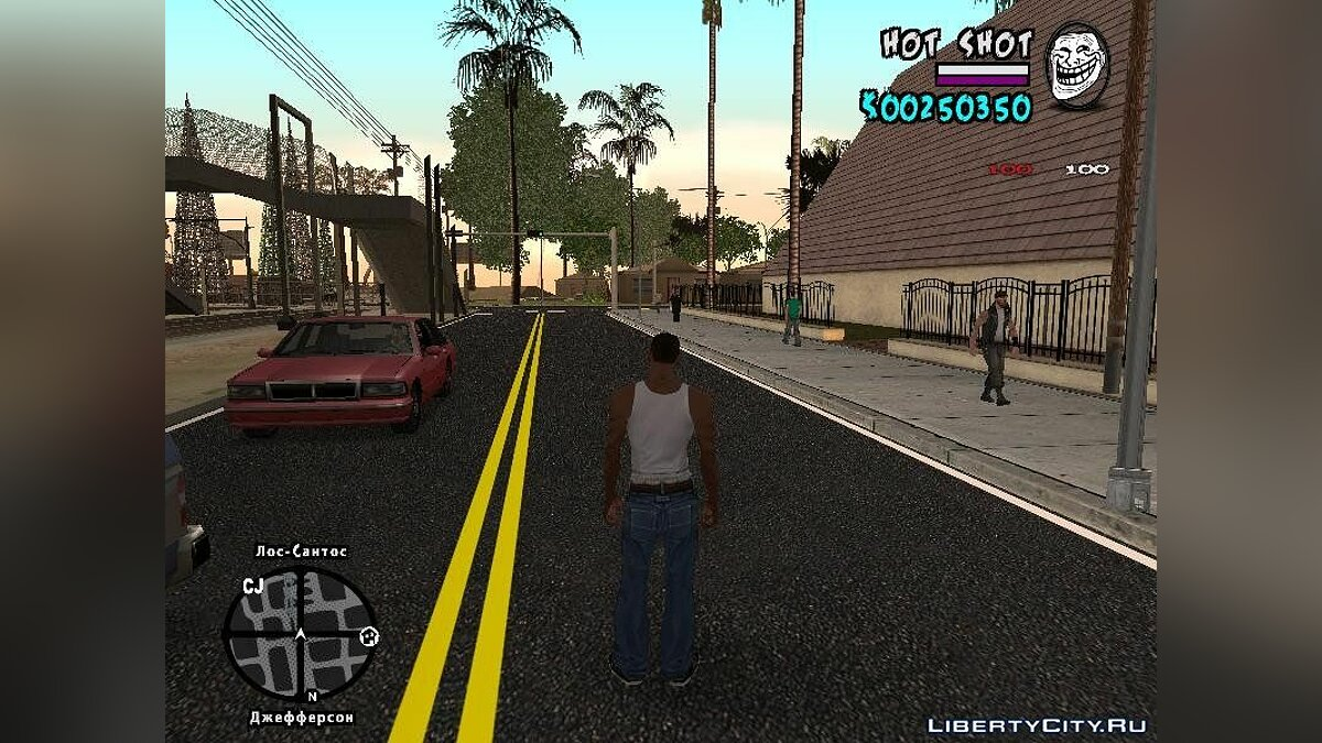 New HUD by Hot Shot для GTA San Andreas