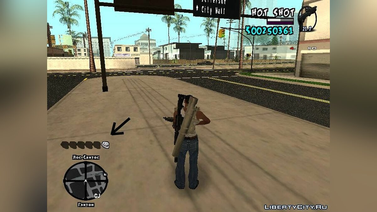 New HUD by Hot Shot для GTA San Andreas - скриншот #4