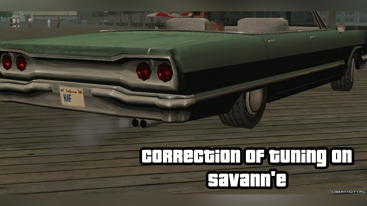 Мод Tuning correction on Savanna для GTA San Andreas