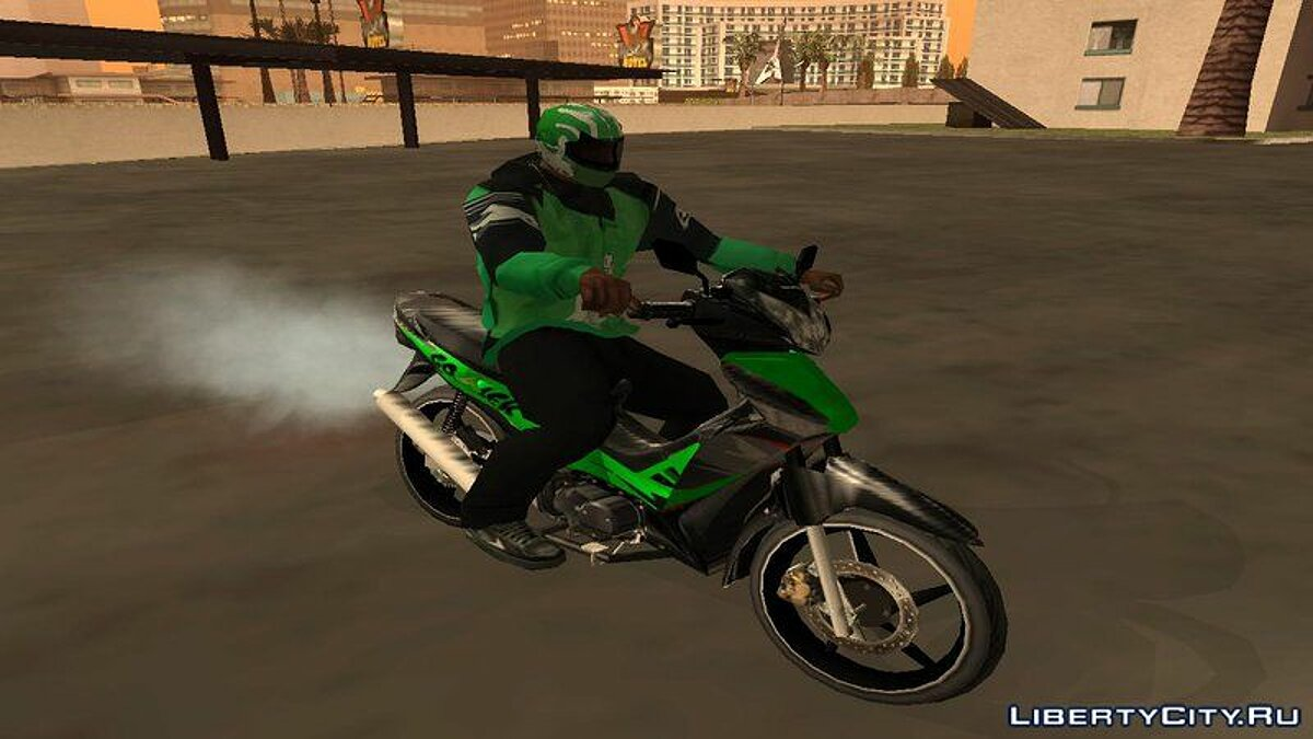 Go-Jek Kit (Helmet, Jacket, Motorcycle) для GTA San Andreas - скриншот #2