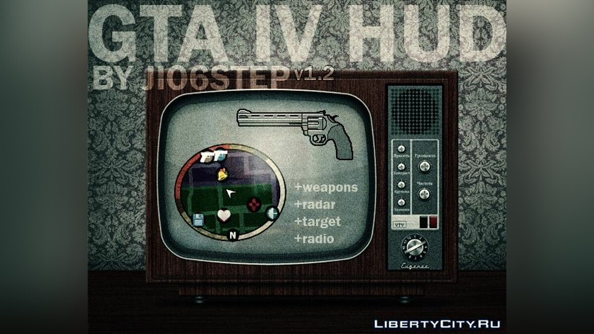 GTA IV HUD by JIO6STEP v1.2 для GTA San Andreas