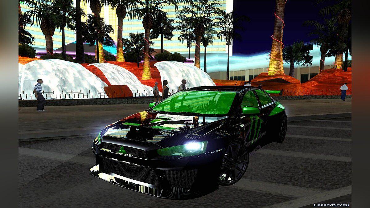 Mitsubishi Lancer Evolution X E&R Productions для GTA San Andreas
